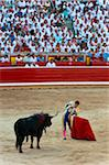 Matador and Bull in Bullfighting Ring, Fiesta de San Fermin, Pamplona, Navarre, Spain Stock Photo - Premium Rights-Managed, Artist: Emanuele Ciccomartino, Code: 700-03805443