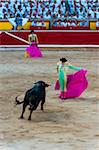Matadors and Bull in Bullfighting Ring, Fiesta de San Fermin, Pamplona, Navarre, Spain Stock Photo - Premium Rights-Managed, Artist: Emanuele Ciccomartino, Code: 700-03805444