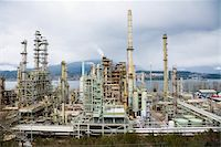 Chevron Oil Refinery on Burrard Inlet, Burnaby, British Columbia, Canada Stock Photo - Premium Rights-Managednull, Code: 700-03805560