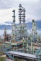 Chevron Oil Refinery on Burrard Inlet, Burnaby, British Columbia, Canada Stock Photo - Premium Rights-Managednull, Code: 700-03805561
