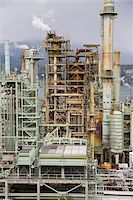 Chevron Oil Refinery on Burrard Inlet, Burnaby, British Columbia, Canada Stock Photo - Premium Rights-Managednull, Code: 700-03805562
