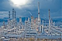 Chevron Oil Refinery on Burrard Inlet, Burnaby, British Columbia, Canada Stock Photo - Premium Rights-Managednull, Code: 700-03805563