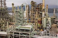 Chevron Oil Refinery on Burrard Inlet, Burnaby, British Columbia, Canada Stock Photo - Premium Rights-Managednull, Code: 700-03805564