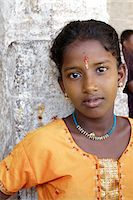 India, Tamil Nadu. Portrait of an Indian girl at the Minakshi Sundareshvara Temple. Stock Photo - Premium Rights-Managednull, Code: 862-03807495