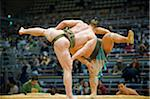 Asia, Japan, Kyushu, Fukuoka city, Fukuoka Sumo competition, Shiko bout rituals, Kyushu Basho Stock Photo - Premium Rights-Managed, Artist: AWL Images, Code: 862-03807641