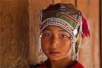 Myanmar, Burma, Kengtung (Kyaing Tong). Young Akha girl, in a hill village near Kengtung. Stock Photo - Premium Rights-Managednull, Code: 862-03807979