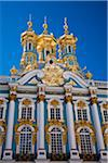 Russia, St Petersburg, Catherine Palace, Tsarskoe Selo.  The lavish imperial palace at Tsarskoe Selo was designed by Rastrelli in1752 for Tsarina Elizabeth.  She named it the Catherine Palace in honour of her mother. Stock Photo - Premium Rights-Managed, Artist: AWL Images, Code: 862-03808214
