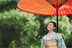 Japanese Lady in Traditional Kimono Stock Photo - Premium Rights-Managed, Artist: Aflo Relax, Code: 859-03811280