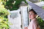 Japanese Woman in Kimono with Bangasa Parasol Stock Photo - Premium Rights-Managed, Artist: Aflo Relax, Code: 859-03811305