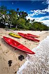 Kayaks at Sandy Beach Resort, Ha'apai, Kingdom of Tonga