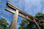 Torii at Entrance to Meiji Shrine Complex, Harajuku District, Tokyo, Kanto, Honshu, Japan Stock Photo - Premium Rights-Managed, Artist: Siephoto, Code: 700-03814263