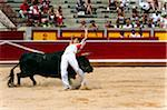 Matador and Bull in Bullfighting Ring, Fiesta de San Fermin, Pamplona, Navarre, Spain Stock Photo - Premium Rights-Managed, Artist: Emanuele Ciccomartino, Code: 700-03814417