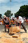 Men Competing in Rural Sports, Plaza de Los Fueros, Fiesta de San Fermin, Pamplona, Navarre, Spain Stock Photo - Premium Rights-Managed, Artist: Emanuele Ciccomartino, Code: 700-03814419