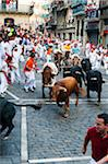 Running of the Bulls, Fiesta de San Fermin, Pamplona, Navarre, Spain Stock Photo - Premium Rights-Managed, Artist: Emanuele Ciccomartino, Code: 700-03814424
