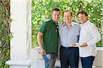 Portrait of Father and Sons at Barbeque Stock Photo - Premium Rights-Managed, Artist: Kevin Dodge, Code: 700-03814697