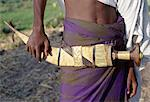 Warriors of the nomadic Afar tribe carry large curved daggers, known as jile, strapped to their waists.Proud and fiercely independent, they live in the low lying deserts of Eastern Ethiopia. Stock Photo - Premium Rights-Managed, Artist: AWL Images, Code: 862-03820406