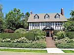 tudor style house Stock Photo - Premium Royalty-Freenull, Code: 673-03826350