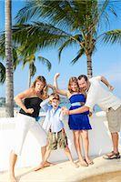 family posing as superheroes Stock Photo - Premium Royalty-Freenull, Code: 673-03826504