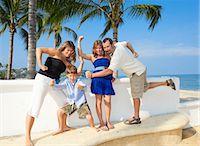 family posing as superheroes Stock Photo - Premium Royalty-Freenull, Code: 673-03826505