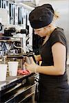 A woman working in a cafe, Sweden. Stock Photo - Premium Royalty-Free, Artist: Ron Fehling, Code: 6102-03827715