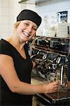 A woman working in a cafe, Sweden. Stock Photo - Premium Royalty-Free, Artist: Edward Pond, Code: 6102-03827727
