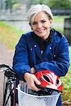 Female cyclist in a park, Stockholm, Sweden. Stock Photo - Premium Royalty-Freenull, Code: 6102-03828595