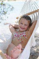 Girl in Hammock Stock Photo - Premium Royalty-Freenull, Code: 600-03836187