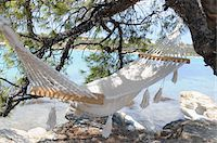 Hammock by Water Stock Photo - Premium Royalty-Freenull, Code: 600-03836195