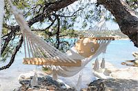 Hammock by Water Stock Photo - Premium Royalty-Freenull, Code: 600-03836196