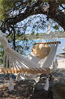 Hammock by Water Stock Photo - Premium Royalty-Freenull, Code: 600-03836197