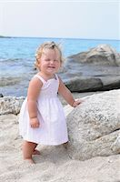 Little Girl at Beach Stock Photo - Premium Rights-Managednull, Code: 700-03836229