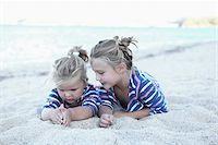 Sisters on Beach Together Stock Photo - Premium Rights-Managednull, Code: 700-03836257