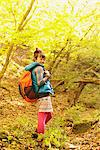 Young Woman Hiking And Looking Back Stock Photo - Premium Rights-Managed, Artist: Aflo Relax, Code: 859-03839528