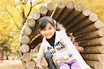 Children Playing In Wooden Tunnel Stock Photo - Premium Rights-Managed, Artist: Aflo Relax, Code: 859-03839637