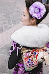 Woman wearing kimono Stock Photo - Premium Rights-Managed, Artist: Aflo Relax, Code: 859-03839696