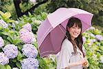 Young adult woman with umbrella Stock Photo - Premium Rights-Managed, Artist: Aflo Relax, Code: 859-03840158