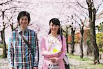 Young Couple under the Cherry blossoms Stock Photo - Premium Rights-Managed, Artist: Aflo Relax, Code: 859-03840209