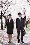 Businesspeople under the Cherry blossoms Stock Photo - Premium Rights-Managed, Artist: Aflo Relax, Code: 859-03840248