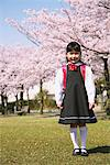 Cherry blossoms and Girl Stock Photo - Premium Rights-Managed, Artist: Aflo Relax, Code: 859-03840729