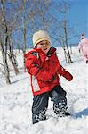 Boy Playing In Snow Stock Photo - Premium Rights-Managed, Artist: Aflo Relax, Code: 859-03840983