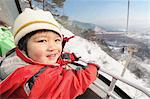 Boy In Ski Lift Stock Photo - Premium Rights-Managed, Artist: Aflo Relax, Code: 859-03841003