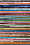 Detail of a stack of records Stock Photo - Premium Royalty-Free, Artist: Blend Images, Code: 653-03843327