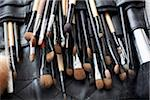 Detail of a professional make-up brush set Stock Photo - Premium Royalty-Free, Artist: David Muir, Code: 653-03843355