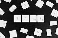 Computer keys spelling the word SALE Stock Photo - Premium Royalty-Freenull, Code: 653-03843494