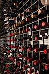 Bottles of wine in a cellar Stock Photo - Premium Royalty-Freenull, Code: 653-03843688