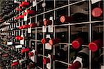 Bottles of wine in a cellar Stock Photo - Premium Royalty-Freenull, Code: 653-03843699