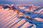 Morning aerial view of Arrigetch Peaks in the Brooks Range,Gates of the Arctic National Park & Preserve, Arctic Alaska, Winter Stock Photo - Premium Rights-Managed, Artist: AlaskaStock, Code: 854-03846069