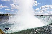 Maid of the Mist, Horseshoe Falls, Niagara Falls, Ontario, Canada Stock Photo - Premium Rights-Managednull, Code: 700-03848930