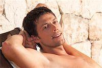 Portrait of Man, Reef Playacar Resort and Spa Hotel, Playa del Carmen, Quintana Roo, Yucatan Peninsula, Mexico Stock Photo - Premium Royalty-Freenull, Code: 600-03849075