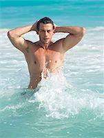 Portrait of Man, Reef Playacar Resort and Spa Hotel, Playa del Carmen, Quintana Roo, Yucatan Peninsula, Mexico Stock Photo - Premium Royalty-Freenull, Code: 600-03849649